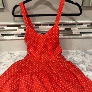 Urban Outfitters Orange Open Back Sleeveless Dress